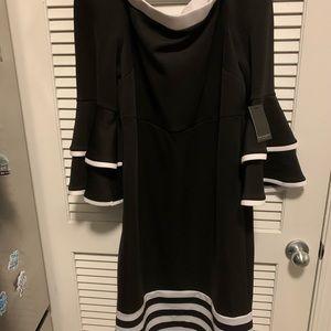 Eloquii black and white dress